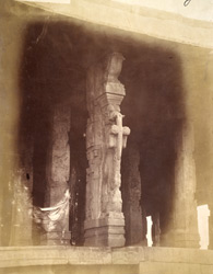 Sculptured column from the mandapa of the Pattabhirama Temple, near Kamalapuram, Vijayanagara